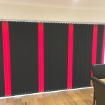 Multi Coloured Red & Black Vertical Blind
