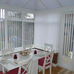 White Verticals in Conservatory